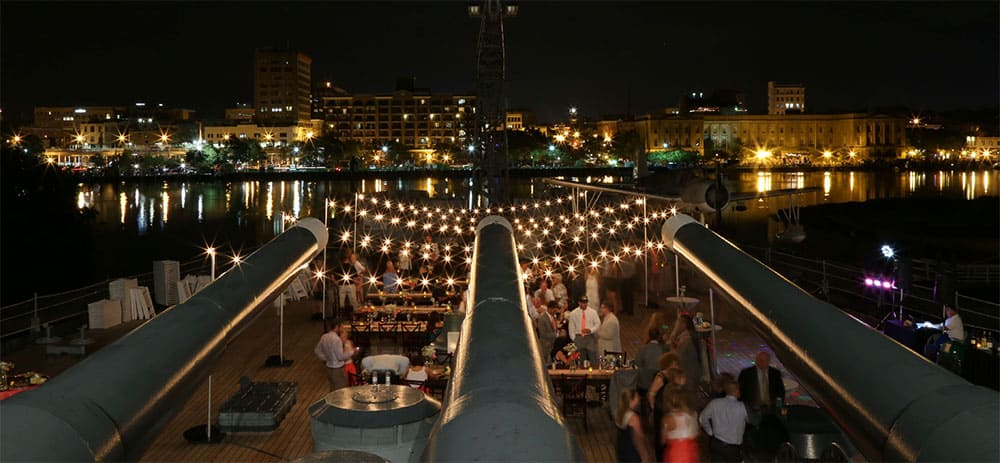 USS North Carolina Battleship Wedding and Reception