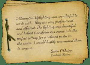 Wilmington uplighting event lighting review