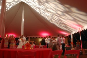 the tides under tent lighting