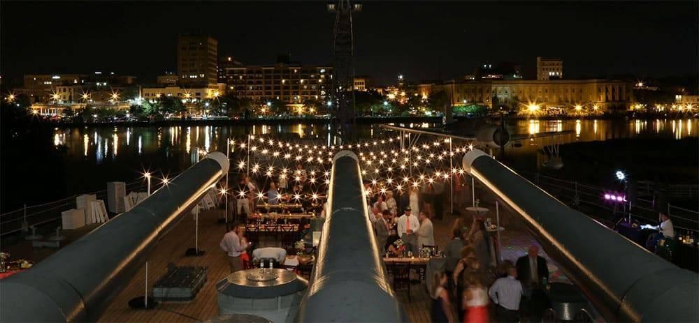USS North Carolina Battleship Wedding and Reception