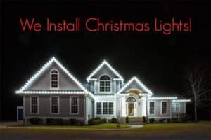 Wilmington NC Christmas lights service installation