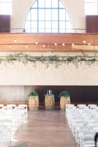 Edison lighting over ceremony and head table