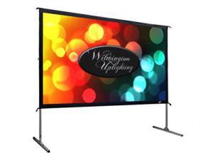 10ft screen rental wilmington uplighting