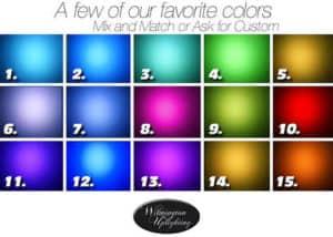 Wilmington Uplighting light color chart